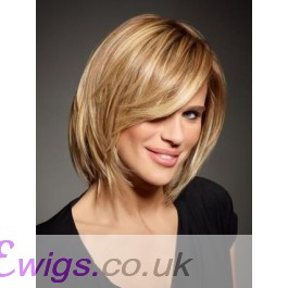 Elegant Human Hair Straight Capless Bob Wig