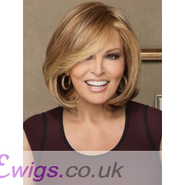 Synthetic Straight Blonde Monofilament Bob Wigs