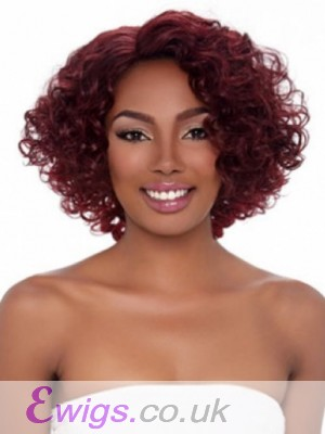 Comfortable Curly African American Wig Without Bangs