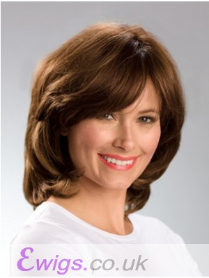 Adorable Human Hair Wavy Capless Wig