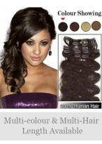 """Newest 7 Pcs From 14"""" Wavy Clip In Full Head Set"""