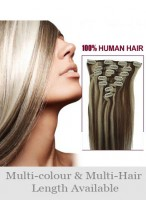 """18"""" Long Straight Remy Hair Extension With Clips"""