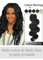 """50"""" Width Wavy Full Head Remy Hair Extensions"""