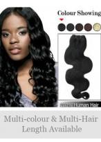 "20"" Human Hair Charming Wavy Full Head Extensions"