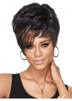 Chic Dramatic Tomboy Synthetic Wig