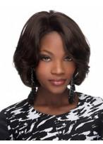 Beautiful Capless Wavy Medium African American Wig