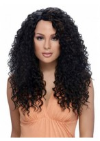 Layered Curly Long Synthetic African American Wig