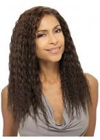 Glossy Smart Long Curly Human Real Wig