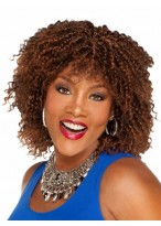 Amazing Curly Medium Synthetic African American Wig
