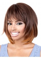 Amazing Straight Synthetic African American Wig