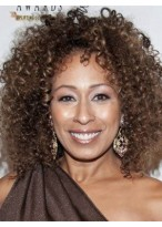 Curly Brown African American Wig