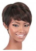 Attractive Straight Short Capless Human Hair Wig