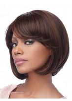 Comfortable Medium Straight Capless Human Hair Wig
