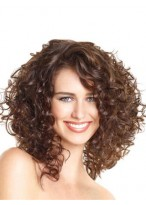 Classic Curly Lace Front Synthetic African American Wig