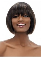 Durable Straight Capless Synthetic African American Wig