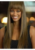 Tyra Banks Straight Lace Front Remy Hair Wig