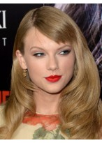 Modern Taylor Swift Hairstyle Natural Wavy Wig