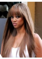 Tyra Banks Popular Straight Capless Synthetic Wig