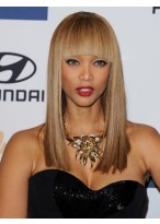 Tyra Banks Most Popular Straight Capless Human Hair Wig