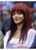 Rihanna Long Straight Remy Human Hair Wig