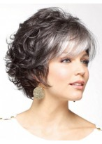 Gorgeous Grey Short Curly Synthetic Wig