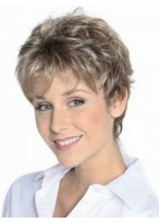 Grey Slightly Wavy Lace Front Synthetic Wig