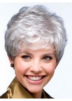 Grey Full On Wavy Synthetic Capless Wig