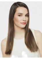 Striking Straight Lace Front Brazilian Remy Hair Wig