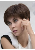 Short Layered Lace Front Nice Human Hair Wig