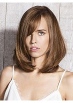 Fashion Straight Lace Front Remy Human Hair Wig