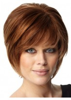 Soft Layers Human Hair Short Capless Wig