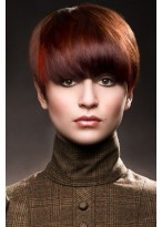 Straight Capless Red Human Hair Wig