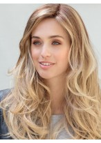 Long Lace Front Charming Wavy Human Hair Wig