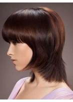 Short Straight Remy Human Hair Capless Wig