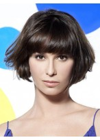 New Style Short Length Straight Capless Human Hair Wig