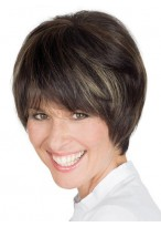 Short Cropped Fringe Lace Front Remy Human Hair Wig