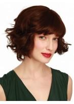 Human Hair Wavy Capless Wig