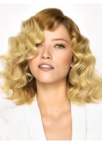 Marvelous Wavy Human Hair Lace Front Wig