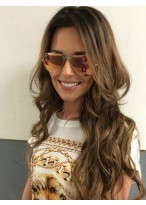 Chic Human Hair Wavy Lace Front Wig