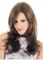 Smooth Long Wavy Capless Synthetic Wig