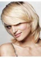 Classic Medium Length Capless Synthetic Wig