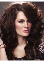 Elegant Long Wavy Lace Front Synthetic Wig