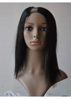 Medium Natural Straight U Part Wig
