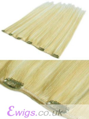 "Cheap 12"" Wide Clip In Hair Extensions"