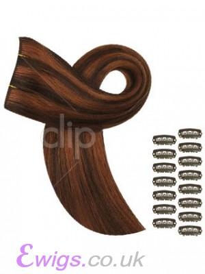"16"" Diy Set Simple Clip In Hair Extensions"