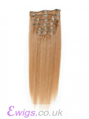 """Straight 10 Pcs From 14"""" Clip In Full Head Set"""
