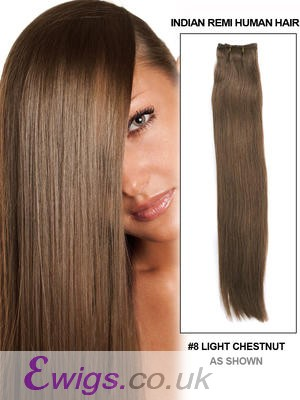 "22"" Straight Remy Human Hair Weft Extensions"