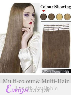 "16"" 20pcs Full Head Pretty Tape In Hair Extensions"
