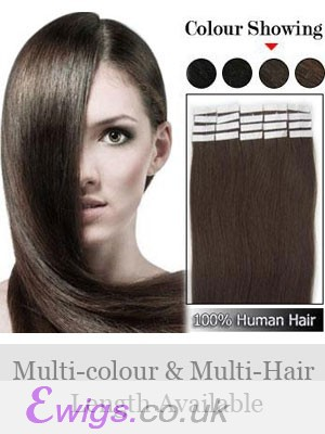 """Nice-looking 16"""" 20pcs Easy Attach Tape In Hair Extensions"""