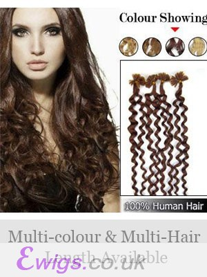 """20"""" 100% Wavy Nail Tip Remy Hair Extensions"""